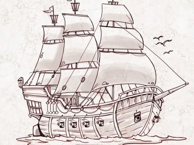 Cum sa devii un pirat adevarat! Deseneaza singur o barca!